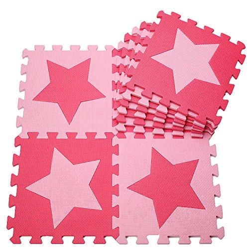 MUSOLEI Puzzle Schaumstoffmatte Spielmatte Ineinandergreifender Schaum Baby Star Fliesen Spielmatten 10 Stück...
