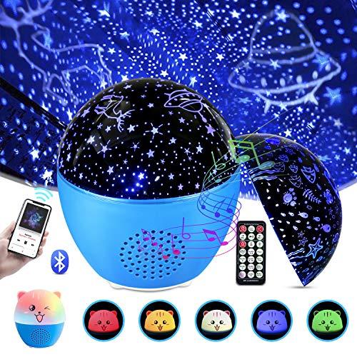 MOSUO LED Sternenhimmel Projektor Lampe Kinder Musik Nachtlicht, Ozean Sternenlicht Projektor USB...