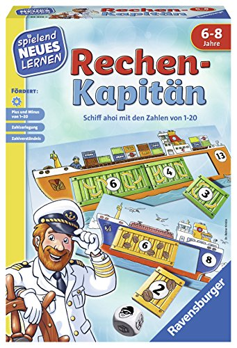 Ravensburger 24972 - Rechen-Kapitän - Spielen und Lernen für Kinder, Lernspiel für Kinder von 6-8 Jahren,...