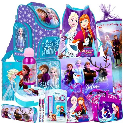 Frozen II 2 EISKÖNIGIN 20 Teile Set Schulranzen RANZEN SCHULTÜTE 85 cm Tornister Schultasche
