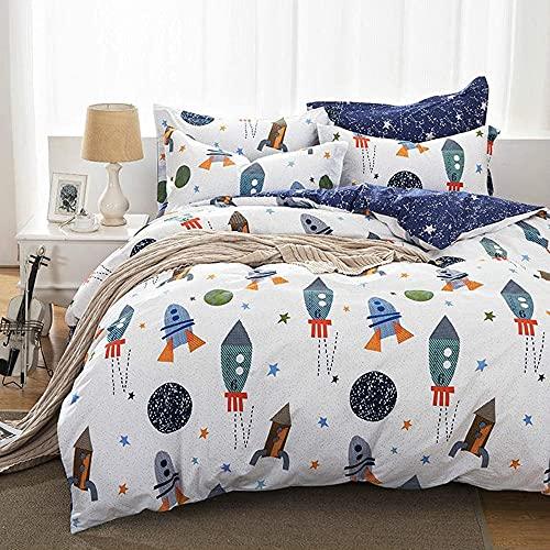 Qucover Bettwäsche Kinder 135x200cm Baumwolle Kinderbettwäsche Jungen Bettbezug mit Reißverschluss...