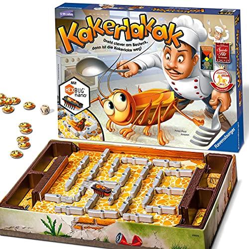 Ravensburger 22212 - Kakerlakak - Kinderspiel mit elektronischer Kakerlake für Groß und Klein, Familienspiel...