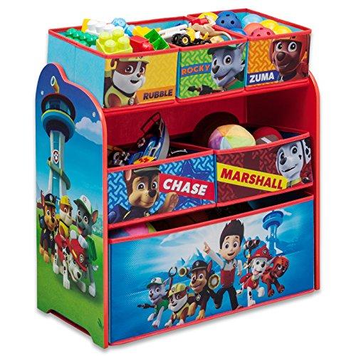 Spielzeugregal - Standregal - Aufbewahrungsregal 6 Boxen mit Motivauswahl (Motiv Paw Patrol)