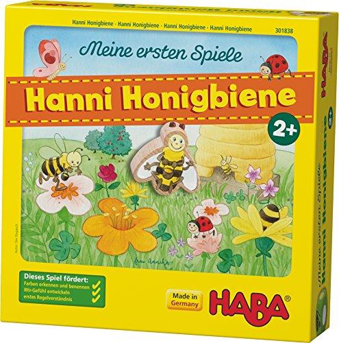 Haba 301838 - Meine ersten Spiele Hanni Honigbiene, kooperatives Farbwürfelspiel für 1-4 Spieler ab 2...