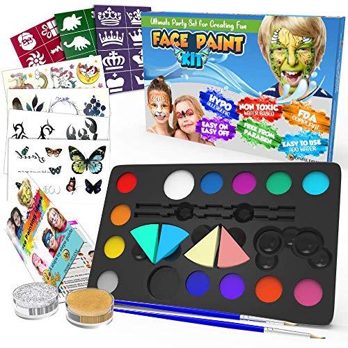 Desire Deluxe Kinderschminke Set Geschenk für Kinder - auf Wasserbasis für Halloween, Fasching, Karneval,...