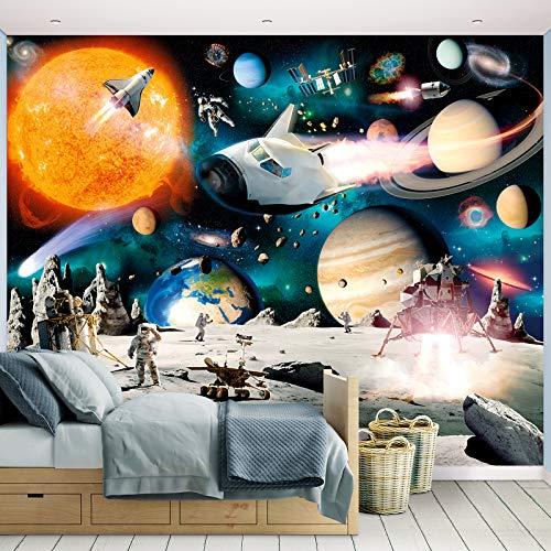 Fototapete Weltraumabenteuer inkl. Tapetenkleister Kindertapete Wandtapete
