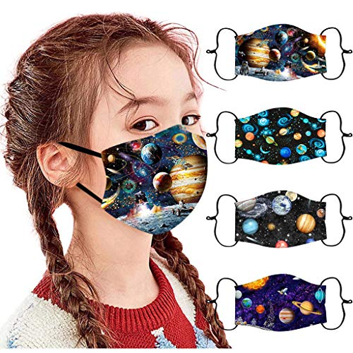 Lulupi Kinder Mundschutz Multifunktionstuch 3D Cartoon Druck Bandana Maske Waschbar Stoffmaske Baumwolle...