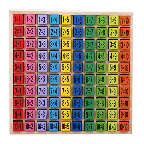 Eleusine Holz Multiplikation & Mathe Tisch Brettspiel, Kinder Montessori Vorschule Lernspielzeug Geschenk für...
