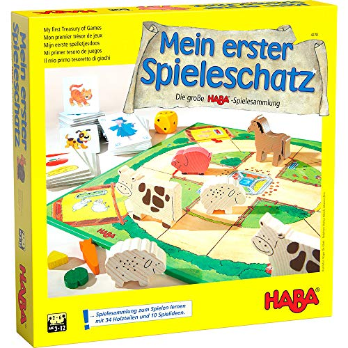 Haba 4278 - Mein erster Spieleschatz Die große Haba-Spielesammlung, 10 unterhaltsame Brett-, Memo- und...