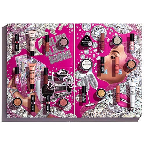 NYX Professional Makeup Diamonds and Ice Please Adventskalender, 24 Türen, Vielseitiges Makeup für Augen,...