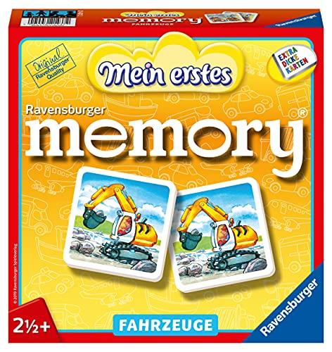 Ravensburger 21437 - Mein erstes memory Fahrzeuge, der Spieleklassiker für die Kleinen, Kinderspiel für alle...