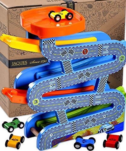 Jaques of London   Kugelbahn Auto Spielzeug   Qualität holzspielzeug   Perfekt Spielzeug ab 2 3 4 Jahre und...