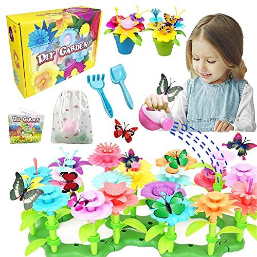 VLUINANI Blumengarten Kit für Mädchen - Geschenk Spielzeug für 3 4 5 6 Jährige Kinder Mädchen 150 Stück...