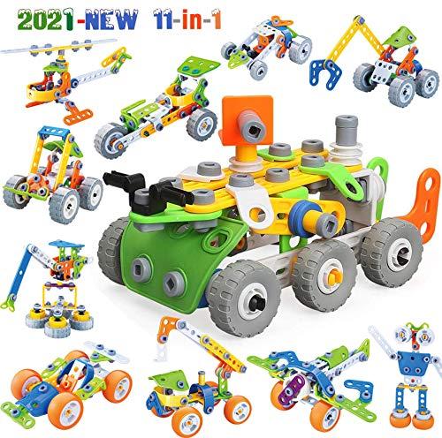 MOONTOY Konstruktionsspielzeug für Kinder, STEM Gebäude Kit Bausteine Spielzeug für Jungen und Mädchen...