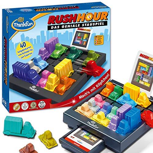 ThinkFun 76301 Rush Hour, Logik- und Strategiespiel, für Kinder und Erwachsene, Brettspiel ab 1 Spieler, ab 8...
