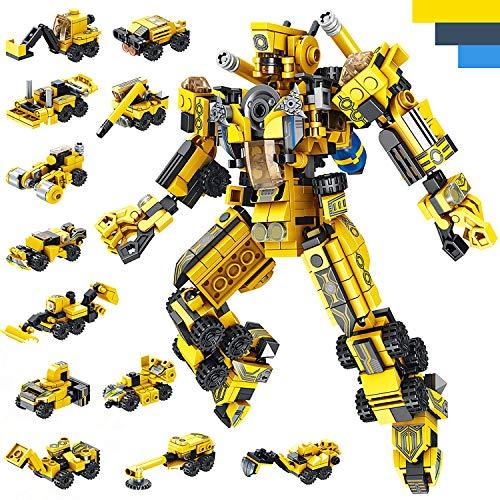 LUKAT Roboter Bausteine Spielzeug für Jungen 6 7 8 9 10 Jahre Gebäude Konstruktionsspielzeug 25-in-1 STEM...