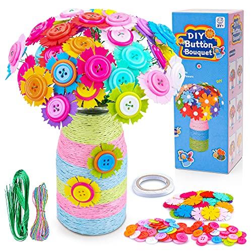 Spielzeug ab 5 6 7 8 9 Jahre Mädchen Kinder, Bastelset Geschenke 6 7 8 9 Jahre Mädchen Kinder Blumenstrauß...