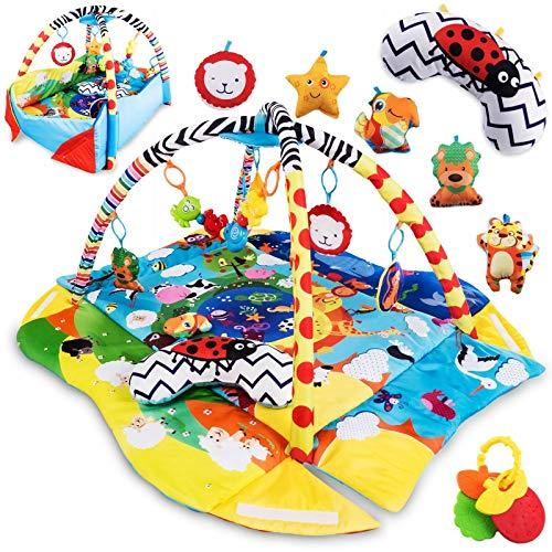 Lionelo Anika Spielmatte Baby Spieldecke Baby Krabbeldecke für Baby Spielbogen für Babys Laufstallfunktion 2...