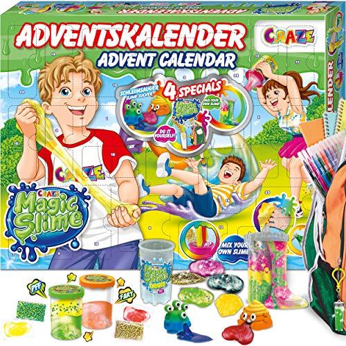 CRAZE Adventskalender 2020 MAGIC SLIME Schleimlabor Weihnachtskalender kreiere deinen eigenen Schleim...