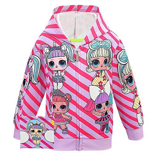 ALAMing LOL Surprise Kapuzenjacke, modisch, bedruckt, für Mädchen, Herbst-,Wintermantel, Jacke,...