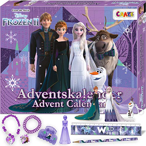 CRAZE Adventskalender FROZEN II Die Eiskönigin Weihnachtskalender Spielfiguren Kinderschmuck Kinder...