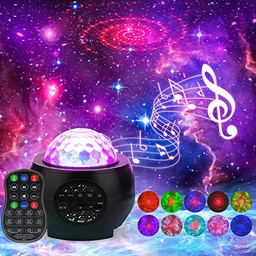 Galaxie Projektor,LED-Nachtlicht,Sternennebel-Ozeanwelle Projektor, Sternenhimmel Projektor mit,...
