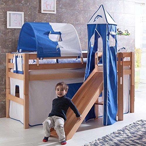 Pharao24 Kinderbett Matthew mit Rutsche