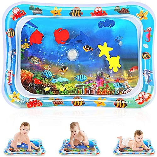CICADAS Wassermatte Baby,Aufblasbare und Wasserfüllung Wasserspielmatte,Babyspielmatte,Fun...