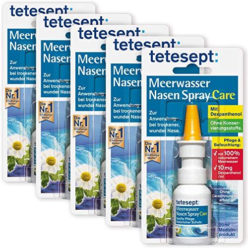 tetesept Meerwasser Nasen Spray Care - Pflegendes & abschwellendes Nasenspray für natürlichen Schutz &...