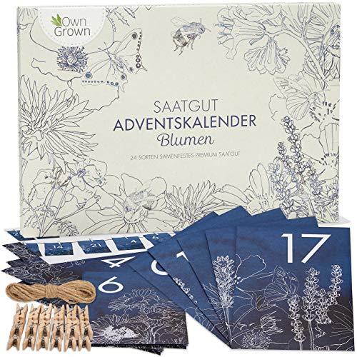 Blumen Adventskalender 2020: Nachhaltiger Garten Adventskalender mit Blumensamen – Schöner Saatgut...
