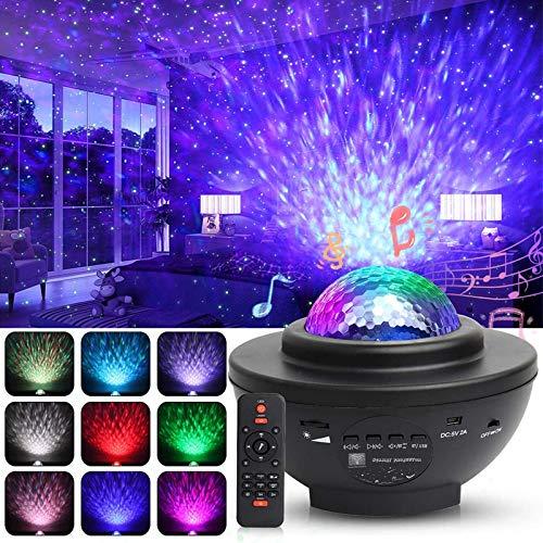 LED Projektor Sternenhimmel Lampe, Swonuk Ozeanwellen Projektor mit Fernbedienung/Bluetooth Lautsprecher/3...
