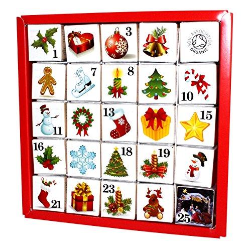 English Tea Shop - Tee Adventskalender 'Christmas Ornaments', 25 einzelne Boxen mit würzigen BIO-Tees in...