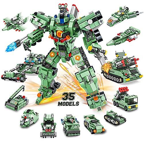 VATOS Roboter Bausteine Spielzeug Jungen ab 6 7 8 9 10 Jahren 832 Teile 35 in 1 kreative STEM...