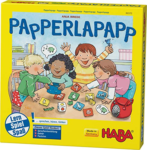 Haba 302372 - Papperlapapp, Lernspielsammlung mit 6 Spielen für Kinder ab 3 Jahren, Lernspiele zur Förderung...