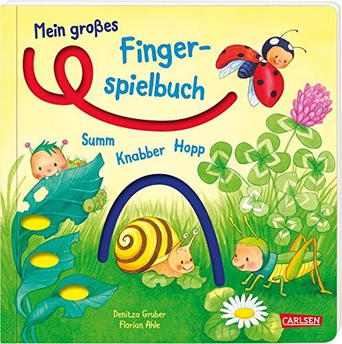 Mein großes Fingerspielbuch: Summ, knabber, hopp!: Spielbuch mit Fingerspuren zum Tasten ab 12 Monaten