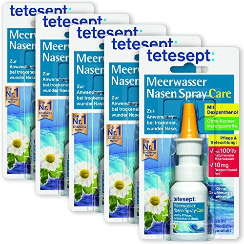 tetesept Meerwasser Nasen Spray Care – Pflegendes & abschwellendes Nasenspray zur natürlichen Reinigung &...