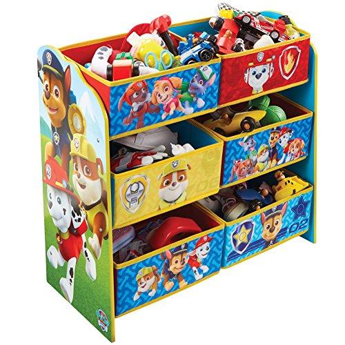 Worlds Apart Paw Patrol - Regal zur Spielzeugaufbewahrung mit sechs Kisten für Kinder, Holz, Red and Blue, 30...