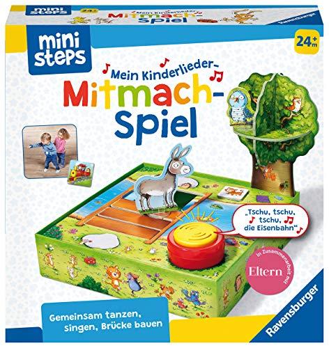 Ravensburger ministeps 4172 Mein Kinderlieder-Mitmachspiel, Lustiges Bewegungspiel mit 12 beliebten...