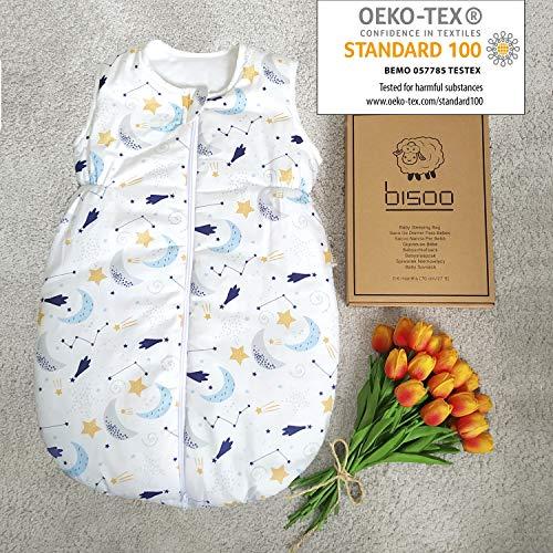 BISOO Schlafsack Baby Winter 2.5 TOG - Babyschlafsack Neugeborene 0-6 Monate - Winterschlafsack Baby - 100%...
