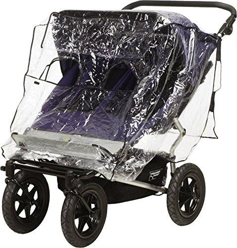 Playshoes Universal Regenverdeck für Geschwister-Buggy, Zwillingskinderwagen Regenhaube, mit Klettverschluss...