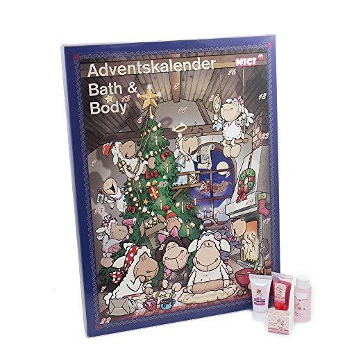 Accentra Adventskalender Beauty, 24 Advents-Überraschungen aus dem Körperpflege & Badespaß Bereich,...