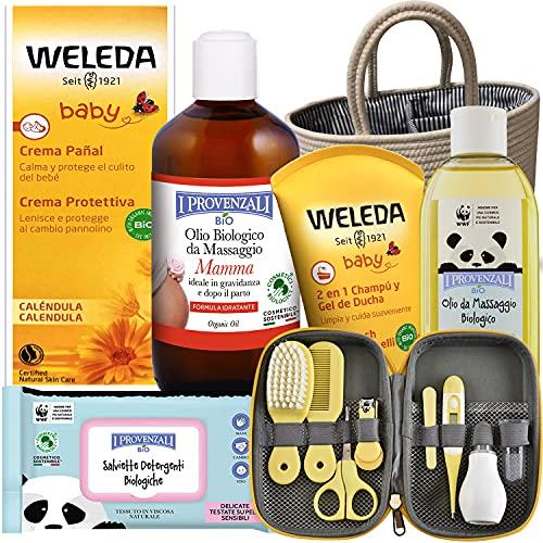 Neugeborenes Geschenk . Premium-Bio-Produkte, 7 Produkte in Premium-Qualität, mit Baumwollbeutel und...