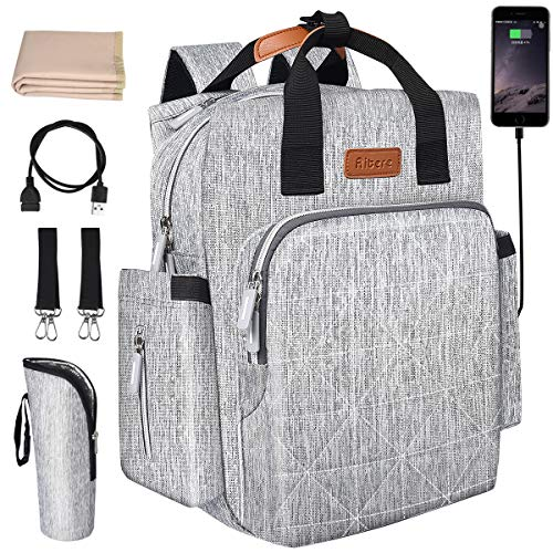 Aitere Baby Reise Wickeltasche, multifunktional und mit maximaler Kapazität, mit 1x Wickelauflage und 2X...