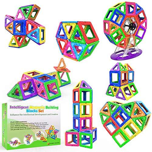 Desire Deluxe Magnetische Bausteine 94PC Konstruktion Bauen Blöcke Set Montessori Spielzeug Teilen für...