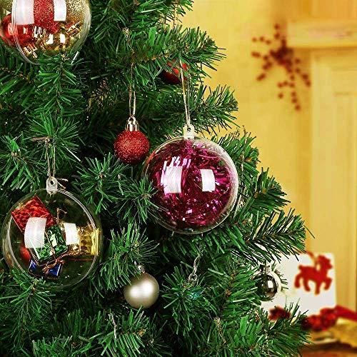 Kranich Acrylkugeln 8 cm DIY Weihnachtskugeln Deko Transparent 20 Stück für Dekorationen, Kleines Dessert,...