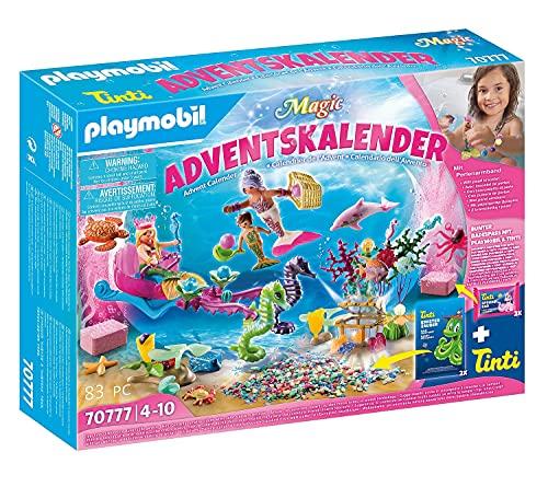 PLAYMOBIL Adventskalender 70777 Badespaß Meerjungfrauen mit vielen Überraschungen z.B. Farben der...