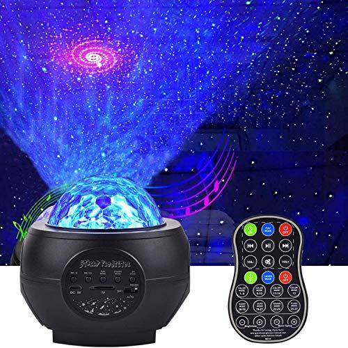 AONCO LED Sternenlicht Projektor, Rotierende Wasserwellen Projektionslampe, Ferngesteuerte Nachtlichter,...