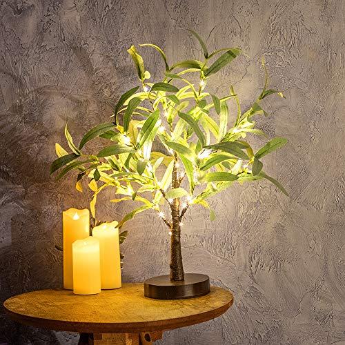 Dekoratives Lichterbaum   Leuchtbaum mit 24 Warmweißer LEDs Licht   45cm Lichterzweige für Tischdekoration  ...