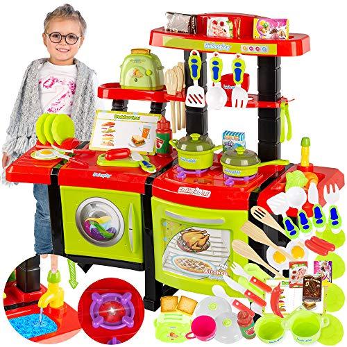 Kinderküche Spielküche Spielzeug Küche KP6031 mit Zubehör Zubehörteile Green Neu Küchenspielzeug...