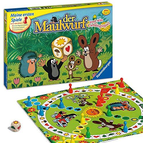 Ravensburger 21570 - Der Maulwurf und sein Lieblingsspiel - Mensch ärgere dich für Kinder, Spiel für...